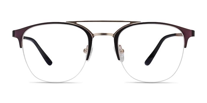 Society Purple Metal Eyeglass Frames from EyeBuyDirect