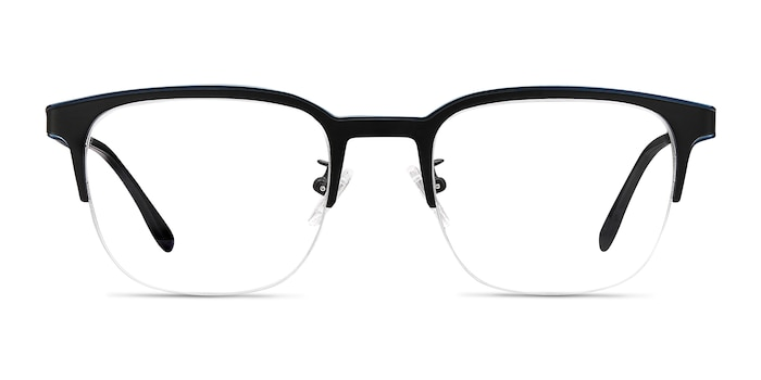 Fathom Blue Black Metal Eyeglass Frames from EyeBuyDirect