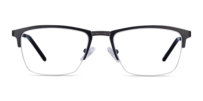 Osmosis Black Metal Eyeglass Frames from EyeBuyDirect