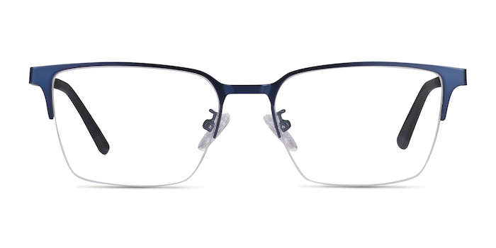 Brink Blue Metal Eyeglass Frames from EyeBuyDirect