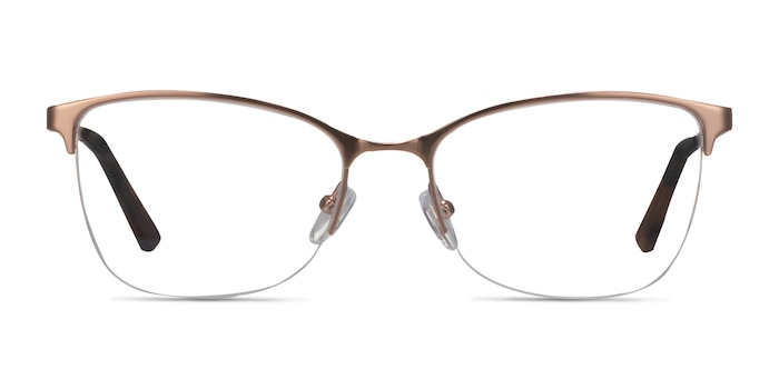 Kira Rose Gold Metal Eyeglass Frames from EyeBuyDirect