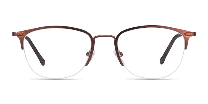 Elise Brown Metal Eyeglass Frames from EyeBuyDirect