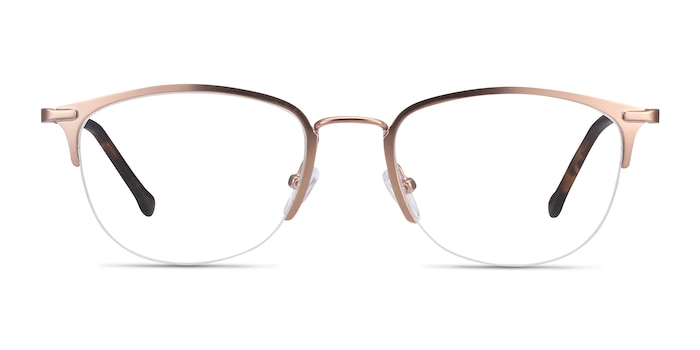 Elise Rose Gold Metal Eyeglass Frames from EyeBuyDirect