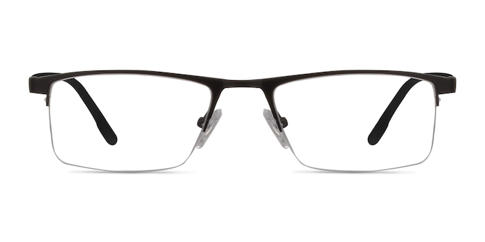 Singapore Matte Black Metal Eyeglass Frames from EyeBuyDirect