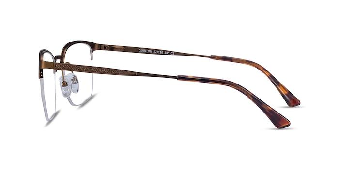 Quinton Bronze Metal Eyeglass Frames from EyeBuyDirect