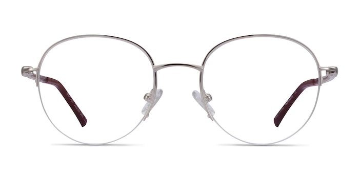 Written Silver Red Metal Eyeglass Frames from EyeBuyDirect
