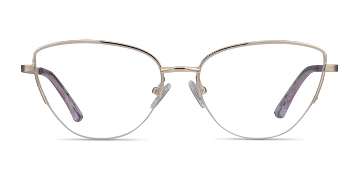 Star Gold Metal Eyeglass Frames from EyeBuyDirect