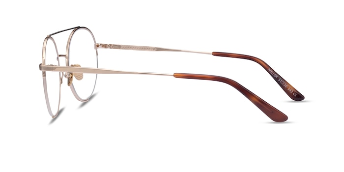 Miller Gold Metal Eyeglass Frames from EyeBuyDirect