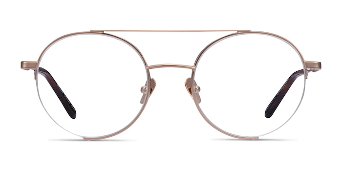 Miller Rose Gold Metal Eyeglass Frames from EyeBuyDirect