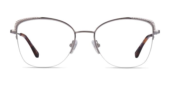 Amande Argenté Métal Montures de Lunette de vue d'EyeBuyDirect