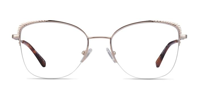 Amande Gold Metal Eyeglass Frames from EyeBuyDirect