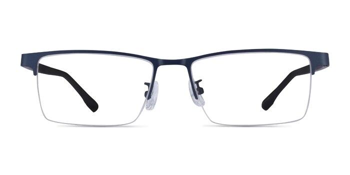 Ceylan Navy Black Métal Montures de lunettes de vue d'EyeBuyDirect