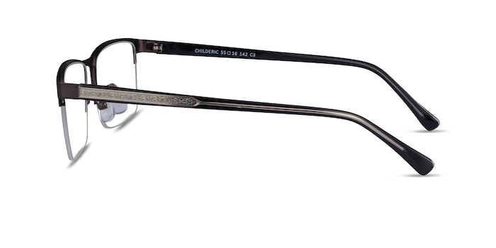 Childeric Gunmetal Metal Eyeglass Frames from EyeBuyDirect