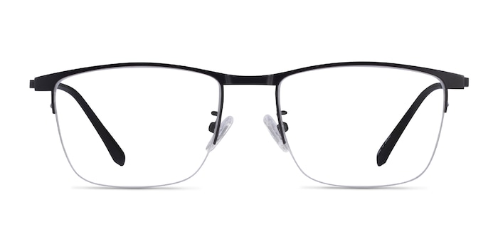 Shawn Matte Black Metal Eyeglass Frames from EyeBuyDirect