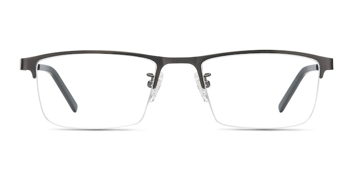 Algorithm Gunmetal Metal Eyeglass Frames from EyeBuyDirect