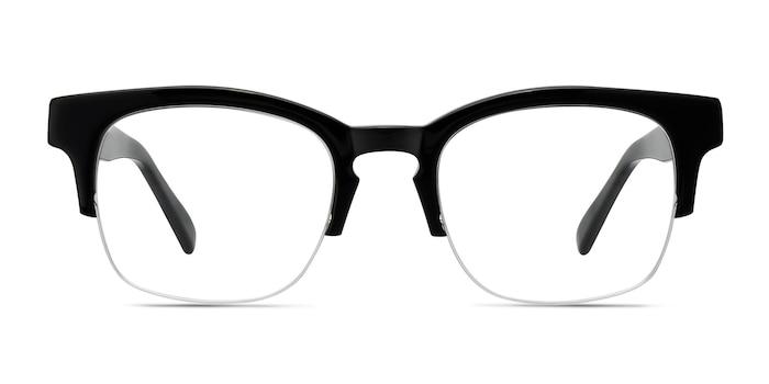 Luxe Noir Acétate Montures de Lunette de vue d'EyeBuyDirect
