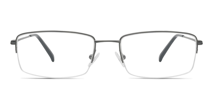 Kanick Gunmetal Titanium Eyeglass Frames from EyeBuyDirect