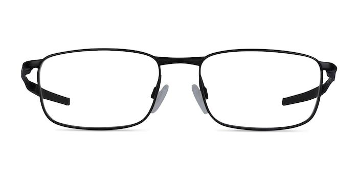 Oakley Barrelhouse Matte Black Metal Eyeglass Frames from EyeBuyDirect