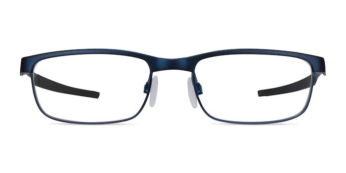 Oakley Steel Plate Powder Midnight Metal Eyeglass Frames from EyeBuyDirect