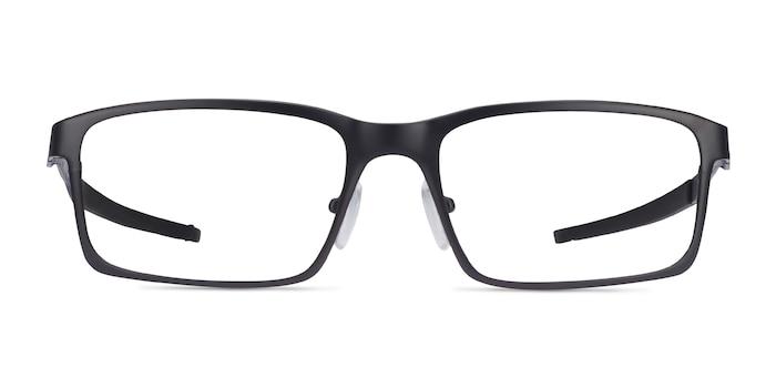 Oakley Base Plane Satin Black Metal Eyeglass Frames from EyeBuyDirect