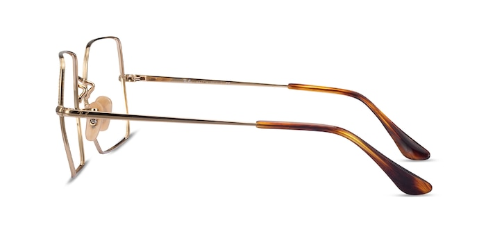 Ray-Ban Square Gold Metal Eyeglass Frames from EyeBuyDirect