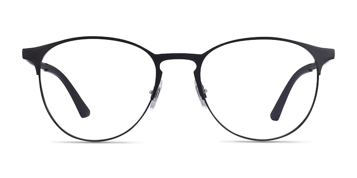 Ray-Ban RB6375 Black Metal Eyeglass Frames from EyeBuyDirect