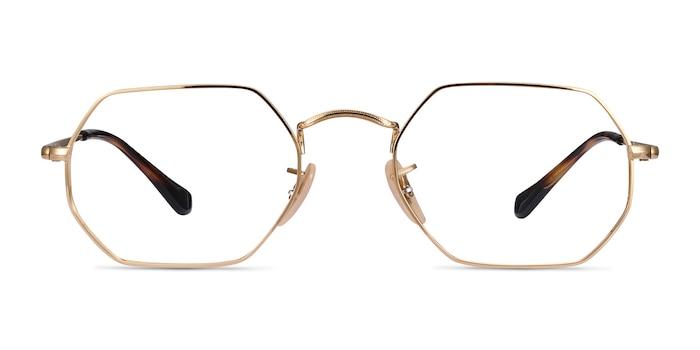 Ray-Ban RB6456 Gold Metal Eyeglass Frames from EyeBuyDirect