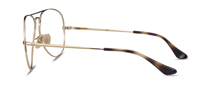 Ray-Ban RB6489 Tortoise Gold Metal Eyeglass Frames from EyeBuyDirect