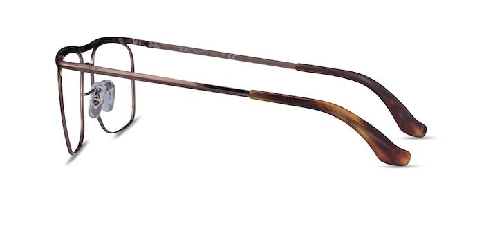 Ray-Ban RB6519 Brown Metal Eyeglass Frames from EyeBuyDirect