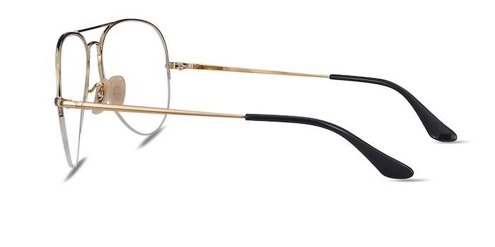 Ray-Ban RB6589 Black Gold Metal Eyeglass Frames from EyeBuyDirect