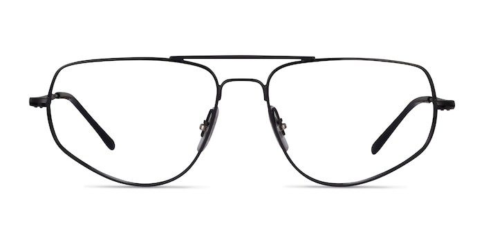 Ray-Ban RB6455 Black Metal Eyeglass Frames from EyeBuyDirect