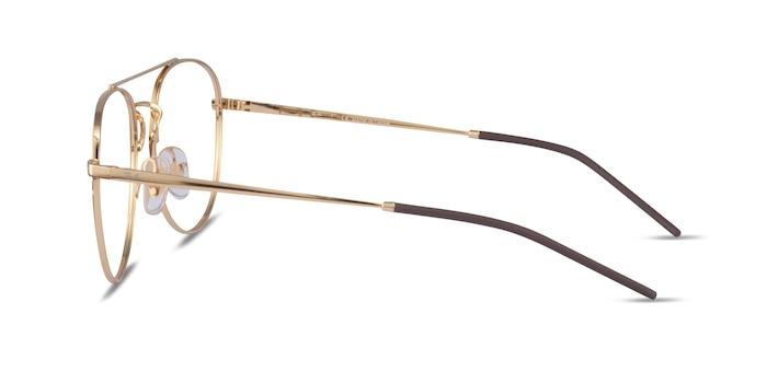 Ray-Ban RB6414 Gold Metal Eyeglass Frames from EyeBuyDirect