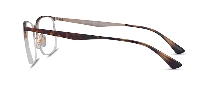 Ray-Ban RB6433 Tortoise Gold Metal Eyeglass Frames from EyeBuyDirect