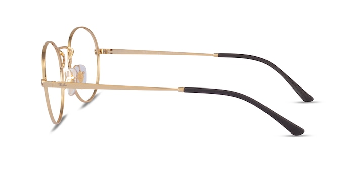 Ray-Ban RB6439 Gold Metal Eyeglass Frames from EyeBuyDirect