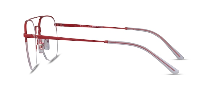 Ray-Ban RB6444 Red Metal Eyeglass Frames from EyeBuyDirect