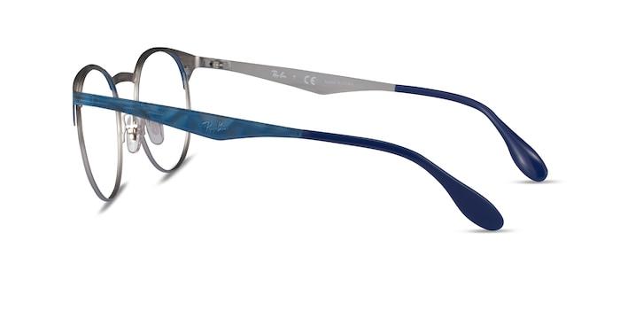 Ray-Ban RB6406 Blue Metal Eyeglass Frames from EyeBuyDirect