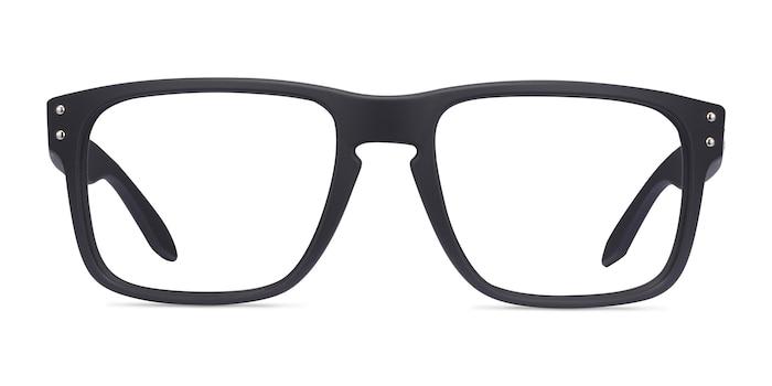 Oakley Holbrook Rx Satin Black Plastic Eyeglass Frames from EyeBuyDirect