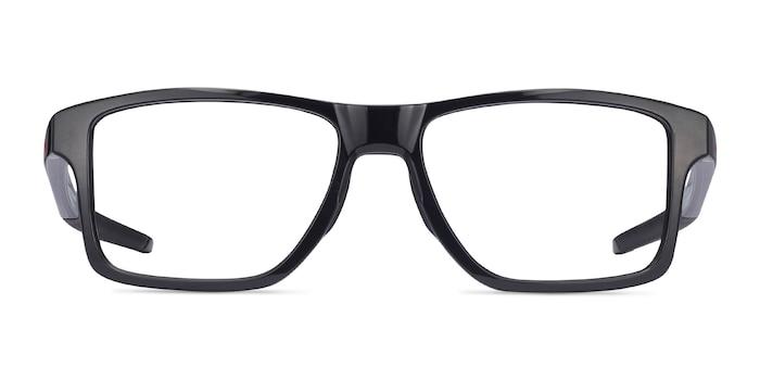 Oakley Chamfer Squared Polished Black Plastic Eyeglass Frames from EyeBuyDirect