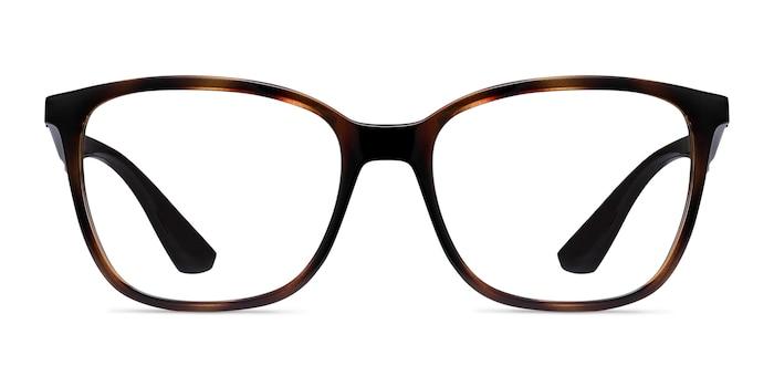Ray-Ban RB7066 Tortoise Brown Plastic Eyeglass Frames from EyeBuyDirect