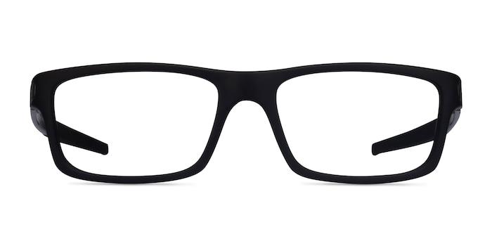 Oakley Currency Satin Black Plastic Eyeglass Frames from EyeBuyDirect
