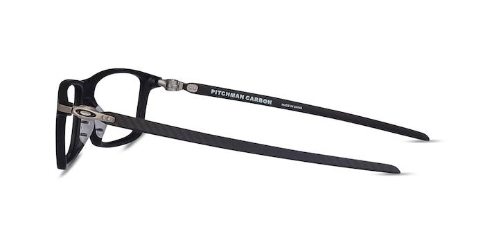 Oakley Pitchman Carbon Satin Black Plastic Eyeglass Frames from EyeBuyDirect