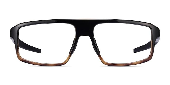 Oakley Cogswell Polished Black Brown Tortoise Plastic Eyeglass Frames from EyeBuyDirect