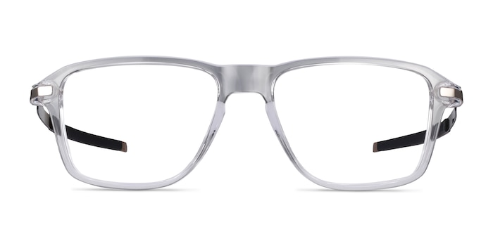 Oakley Wheel House Polished Clear Plastic Eyeglass Frames from EyeBuyDirect
