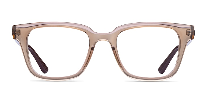 Ray-Ban RB4323V Clear Brown Plastic Eyeglass Frames from EyeBuyDirect