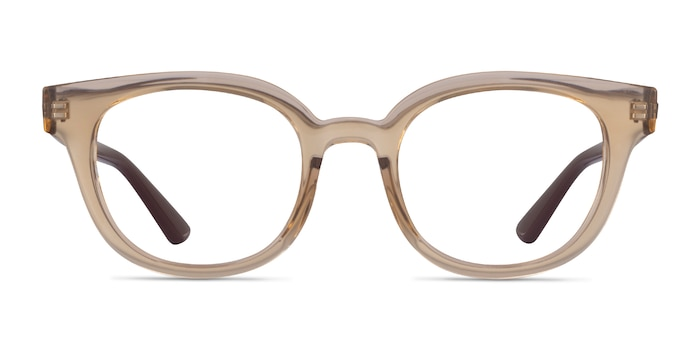 Ray-Ban RB4324V Clear Brown Plastic Eyeglass Frames from EyeBuyDirect