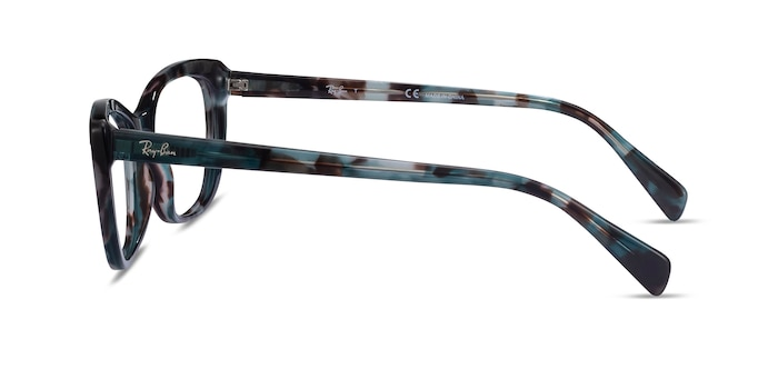 Ray-Ban RB5366 Blue Tortoise Acetate Eyeglass Frames from EyeBuyDirect