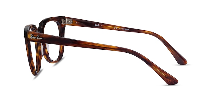 Ray-Ban Meteor Striped Tortoise Acetate Eyeglass Frames from EyeBuyDirect