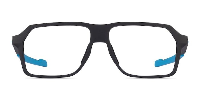 Oakley Bevel Black & Blue Plastic Eyeglass Frames from EyeBuyDirect