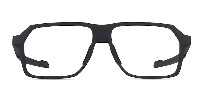 Oakley Bevel Black Plastic Eyeglass Frames from EyeBuyDirect