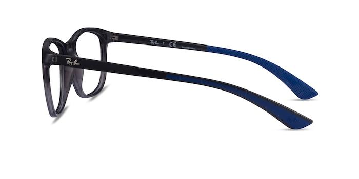 Ray-Ban RB7169 Clear Dark Gray Plastic Eyeglass Frames from EyeBuyDirect